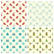 Set of seamless Christmas patterns. — Vector de stock  #54974239