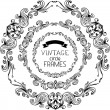 Vintage round frames. — Stock Vector #54974415