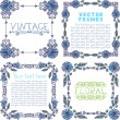 Frames with floral elements. — Vector de stock  #54974897