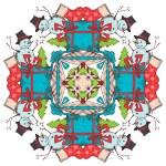 Christmas square snowflake. — Stock Vector #54975103