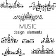 Music page decorations. — Stock Vector #54975183