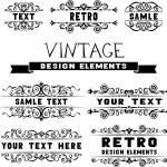 Calligraphic design elements. — Stock Vector #54975351