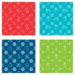 Set of seamless Christmas patterns. — Vector de stock  #54975675