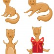 Four cats — Stock Vector #54975789
