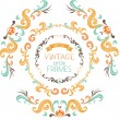Vintage round frames. — Stock Vector #54975979