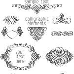 Calligraphic design elements — Stock Vector #54976035