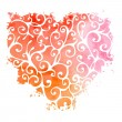Abstract hand-drawn watercolor heart — Stock Vector #54976063