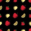 Seamless pattern of fruits and berries — Stock Vector #54976131