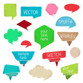 Set of colourful speech bubbles. — Stock Vector