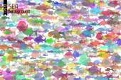 Colorful fish background. — Stock Vector
