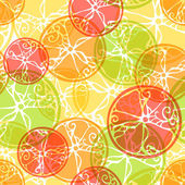 Seamless pattern of citrus fruits. — Stock Vector