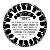 Black and white trees background. — Stock Vector