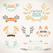 Set of nature design elements. — Stock Vector