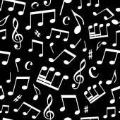 Naadloze muziek patroon — Stockvector