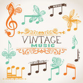 Vintage music design elements. — Stock Vector