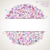 Colorful square butterflies — Stock Vector