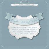 Paper badge background. — Stock Vector