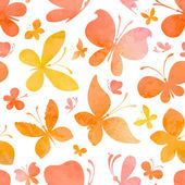 Watercolor pattern of butterflies. — Vector de stock