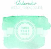 Green watercolour banner — Vector de stock