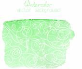 Green watercolour banner — Cтоковый вектор