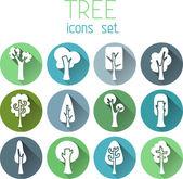 Trees  round icons — Stock Vector