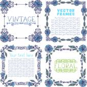 Frames with floral elements. — Stock Vector