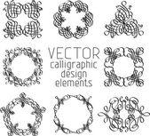 Set of various design elements — Stock Vector