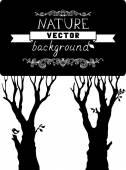 木のシルエット — ストックベクタ