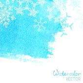 Beyaz kar tanesi suluboya arka plan. — Stok Vektör