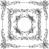 Vintage ornate frames. — Stock Vector