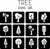 Trees  square icons. — Vetorial Stock