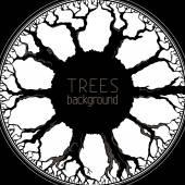 Fundo de árvores. — Vetorial Stock