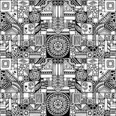 Doodles seamless pattern. — Stock Vector