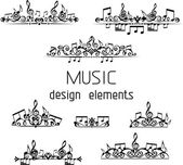 Music page decorations. — Stock Vector