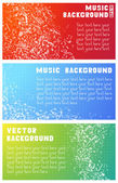 Three vector music banners — Stock Vector