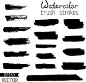 Hand-painted brush strokes. — Stock Vector