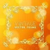 Vintage vector frame — Cтоковый вектор