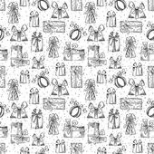 Seamless gifts pattern. — Vector de stock