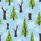 Seamless winter pattern — Stock Vector