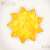 Sunny geometric background. — Stock Vector