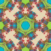 Seamless Christmas ornate pattern. — Stock Vector