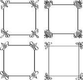 Satz von kalligraphischen bildern. — Stockvektor