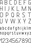 Alfabe harf ve rakam. — Stok Vektör