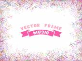 Colorful music frame — Stok Vektör