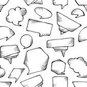 Seamless speech bubbles pattern. — Vettoriale Stock