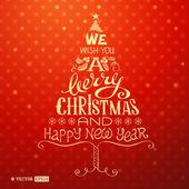 Kartkę z życzeniami christmas. — Wektor stockowy
