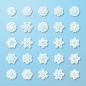Vector set of paper snowflake stickers.  — Stock Vector