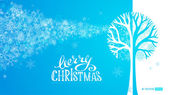 Blue winter tree background.  — Vetorial Stock