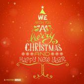 Vector Christmas hand-written lettering. — Stockvector