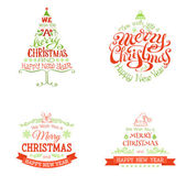 Christmas set of labels and emblems. — Stock Vector